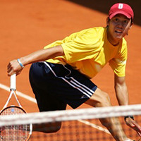 He reached the top 8 in singles at the Junior French Open in 2006.