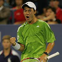 He became the first Japanese player to reach the top 16 in 71 years at the US Open in 2008.